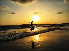 Aarna on the Beach (ketalystus) Tags: beach child summer bombay india versova mumbai sea sun sand shotoniphone
