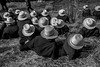 Hats (crabsandbeer (Kevin Moore)) Tags: winter amish animals auction children farm hats horses kids livestock mennonite mud mudsale people rural spring bw blackandwhite monochrome lancaster lancastercounty pennsylvania circle pattern repeat repetition person portrait candid street