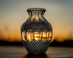 Shape-shifting  130/365 (Robin Penrose - running the roads - it's fall ...) Tags: 201805 light curves shine evening sunset glass vase innerlight shape shapeshifting project365 365the2018edition