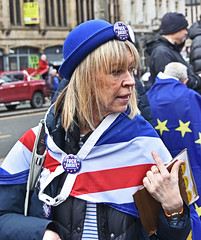 Protester (davidsharp159) Tags: brexit antibrexit protest rally march street streetscene streetpeople streetphotography streetshot streetscenes leeds city westyorks west yorkshire