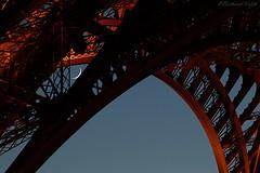 Parisian time (bertrand kulik) Tags: eiffeltower night lune moon sky ciel architecture paris toureiffel