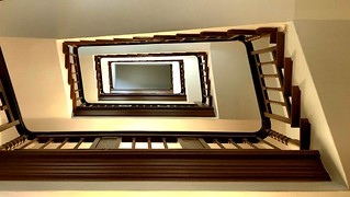 A light-flooded staircase