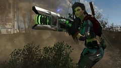 Fallout4 -  CROSS PlasRail (tend2it) Tags: fallout4 fallout 4 rpg game pc ps4 xbox screenshot screenarchery reshade postprocessing injector nuclear apocalyptic future piper nano suit gun rifle nuka cross plasrail eraser enb sweetfx