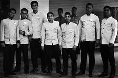 Line Up Boys (N A Y E E M) Tags: concierge doorman valet group portrait friday afternoon naturallight lawn hotel radissonblu chittagong bangladesh uniform
