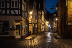 Büdingen (janeway1973) Tags: büdingen historic center early morning night früher morgen nacht altstadt leer empty sunrise sonnenaufgang lantern light laternen hdr fachwerk halftimbered sandstein sandstone