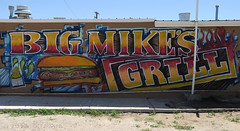 Big Mike's Grill (jolee-mer) Tags: sign painting text restaurant bigmikes belen nm usa hamburgers phillycheesesteak gobigorgohome
