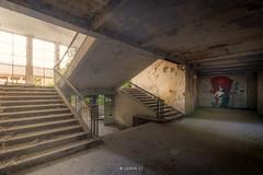 Soviet wall (Lo.Re.79) Tags: abandoned decay exploration forgotten germany light mural paint rotten rottenplaces rottenplacesgermany soviet staircase star urban urbex urss window