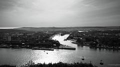 Monochrome Koblenz (frankdorgathen) Tags: alpha6000 sony1018mm weitwinkel wideangle monochrome blackandwhite schwarzweiss schwarzweis cityscape landschaft landscape flus rhein rhine river deutscheseck rheinlandpfalz koblenz