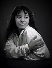 sarah (trishwinston) Tags: noir et blanc black white monochrome portrait studio