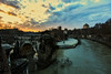 the river (por agustinruizmorilla) Tags: river lake arch bridge riverbank tourboat pond footbridge dusk canal standing water townscape tiber roma anochecer agustin ruiz morilla