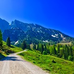 Wilder Kaiser mountains near Scheffau, Tyrol, Austria thumbnail