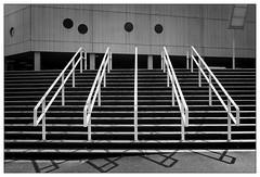 Stairs (frodul) Tags: architektur ausenansicht detail gebäude gebäudekomplex geländer gestaltung konstruktion linie outdoor stair stairrail stairway step stufe symmetrie treppe boumaboulevard europapark groningen holland nederland netherland niederlande bw einfarbig monochrom sw stufe