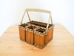 Bamboo Basket Caddy (.godo) Tags: etsy vintage basket bamboo caddy tiki lounge organization storage craftsupplies box wicker picnic holder keeper handles bbq barbecue kitchen bar philippines mcm midcenturymodern luau hawaiin tropical kitsch 70s seventies pirate prop exotica exotic jungalow