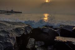 Pondicherry Harbour,India (jeelnaic) Tags: pondicherry pondy india incredibleindia sunrise sunset seascape landscape nikon d7200 sigma