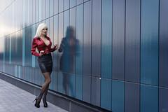 Hotel Aviapolis (DZ-fotografia (8.3 Million views, Thx!)) Tags: pantyhose black heels stilettos long legs mini skirt leather blouse satin red blonde hair sexy