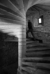 (cherco) Tags: stairs subir blackandwhite blancoynegro man hombre window castle arquitectura architecture repetition monochrome alone aloner lonely loner composition composicion canon ciudad city caracol snail older