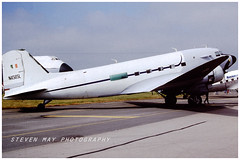 N4565L DC-3 (SPRedSteve) Tags: n4565l dc3 douglas dc 3 fairford 1985 ireland