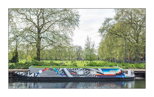 Boat Art/The River Dwellers, East London, England.
