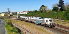 Aisladas Monforte Ferrol (javivillanuevarico) Tags: renfe ferrol renfemnercancias lineaferrolbetanzos sol ferrocarril galicia