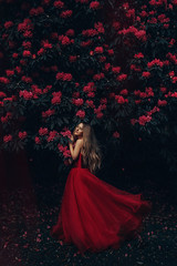 To live, doesn't mean you're alive (Adam Bird Photography) Tags: adambirdphotography adambird red flowers colour green dress princess portrait girl model fairytale fairy tale conceptual fineart story telling flickr explore blossom spring tree bush