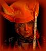 Warrior Princess MoStFoWL (milomingo) Tags: woman female closeup portrait vivid vibrant face orange multicolored grain texture concept people photoborder photoart cmwd cmwdorange