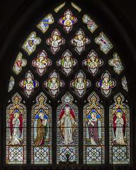 Ashwell, St Mary's church, East window (Jules & Jenny) Tags: ashwell stmaryschurch stainedglasswindow
