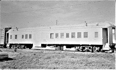 Burlington MOW bunk car --  former heavyweight coach --  at Pacific Junction Iowa in 1975 4696 (Tangled Bank) Tags: train railway railroad north american old classi heritage vintage classic equipment stock passenger car rolling burlington mow bunk former heavyweight coach pacific junction iowa 1975 4696 cbq bn camp