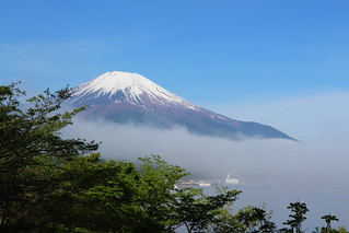 Mt. Fuji with morning mist