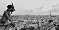 Grotesque (lowcountryboil) Tags: gargoyle grotesque chimera paris france notredame cathedral eiffeltower toureiffel lesinvalides saintsulpice