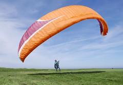 Paraglider (roomman) Tags: 2018 poland balticsea coast baltic sea wollin island trzęsacz sport sports adventure paraglider paragliding man guy aviation fly flying sky up beach water ocean blue weather nice cliff jump jumping