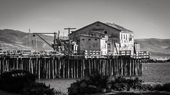 Wharf at Half Moon 03 B&W (CDay DaytimeStudios w/1,000,000 views) Tags: beach california coastline halfmoonbayca highway1 landscape ocean pacificcoast pacificcoasthighway rocks wharf
