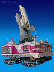 HLC Space Center Crawler (3 of 4) (Bricksky) Tags: lego moc bricksky friends space center shuttle crawler