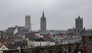 View of Gent From Gravensteen, Gent, Belgium