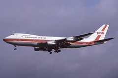 PK-GSF Gatwick 31-3-1986 (Plane Buddy) Tags: pkgsf boeing 747 200b garuda indonesian gatwick lgw