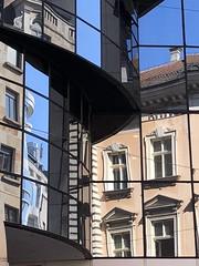 reflection of the city (Hayashina) Tags: serbia belgrade hww window reflection