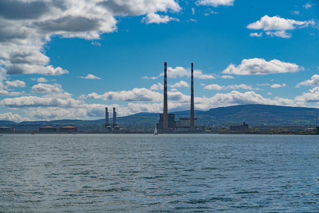 THE POOLBEG STACKS [AS SEEN FROM CLONTARF ROAD IN DUBLIN]-139846