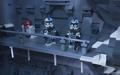 Fives and Echo (Ben Cossy) Tags: fives echo star wars clone moc afol tfol minifigure minifig arc trooper ice base astromech droid clones
