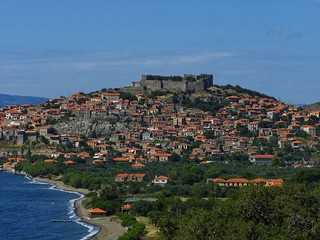 Molyvos village Lesvos Greece