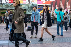 Branded (burnt dirt) Tags: asian japan tokyo shibuya station streetphotography documentary candid portrait fujifilm xt1 laugh smile cute sexy latina young girl woman japanese korean thai dress skirt shorts jeans jacket leather pants boots heels stilettos bra stockings tights yogapants leggings couple lovers friends longhair shorthair ponytail cellphone glasses sunglasses blonde brunette redhead tattoo model train bus busstation metro city town downtown sidewalk pretty beautiful selfie fashion pregnant sweater people person costume cosplay bag black gray white denim