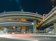Metropolitan Expressway Oji-Kita Interchange (首都高速道路 王子北IC) (christinayan01 (busy)) Tags: highway interchange intersection junction jct tokyo japan night elevated expressways overpass