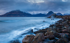 Elgol (Ade G) Tags: landscape rocks scotland seascape seasons coast longexposure mountains snow winter