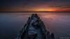 it became night (© Jenco van Zalk) Tags: night dusk landscape breakwater sunset dark