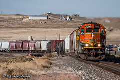 BNSF 7005 | EMD SD40-2 | BNSF Casper Subdivision (M.J. Scanlon) Tags: bn bn7005 bnsf bnsf7005 bnsfcaspersub bnsfcaspersubdivision bnsfhlaukck bnsfhlaukck126a burlingtonnorthern burlingtonnorthernsantafe business canon capture cargo commerce digital douglas emd eos engine freight hlaukck haul horsepower landscape locomotive logistics mjscanlon mjscanlonphotography manifest merchandise mixedfreight mojo move mover moving outdoor outdoors photo photograph photographer photography picture rail railfan railfanning railroad railway sd402 scanlon sky steelwheels super track train trains transport transportation tree wow wyoming ©mjscanlon ©mjscanlonphotography laukck