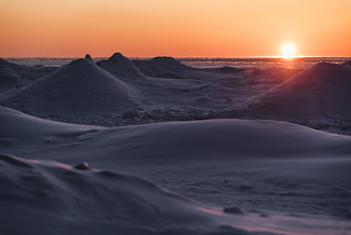 Sunset on the Ice Mounds   [Explore]