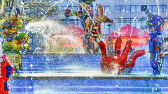 light combined with color and water (micagoto) Tags: ff frankfurt oder fountain