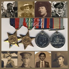 ANZAC DAY 25 April 2019 - Lest We Forget (Aussie~mobs) Tags: lestweforget ww1 ww2 soldiers servicemen servicewomen family medals military army australia vintage anzacday commemorative warmedal australianservicemedal 19391945star pacificstar aussiemobs