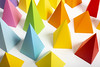 Rainbow shapes from above (CatMacBride) Tags: paper pyramid shape geometry