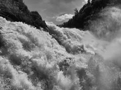 ... y tiro porque me lleva la corriente (jantoniojess) Tags: cataratas cataratasdeschaffhausen suiza waterfall río agua caídadeagua blancoynegro blackandwhite monocromático monochrome