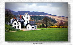 """Dougarie Lodge"" (The Jacobite) Tags: island canon hunting lodge hamilton arran gorse yellow stately argyll lawn chimney"