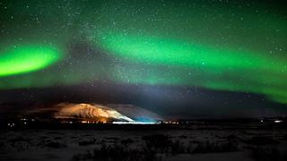 Iceland Aurora borealis - Laugarvatn 4K Wallpaper / Desktop Background